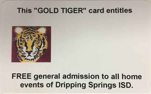 gold tiger card