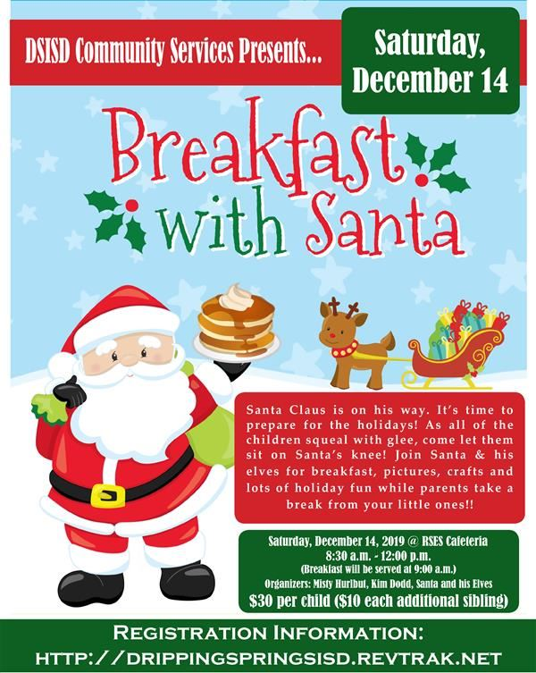 Register Here for Breakfast with Santa 2019